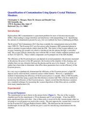 Quantification of Contamination Using Quartz Crystal Thickness Monitors