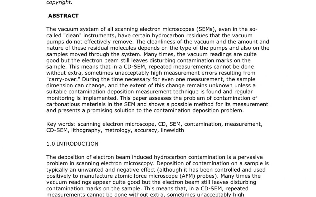 Active Monitoring and Control of Electron Beam Induced Contamination
