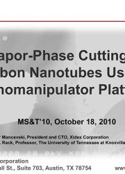 Vapor-Phase Cutting of Carbon Nanotubes Using a Nanomanipulator Platform