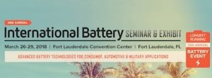 2018 International Battery Seminar & Exhibit @ Fort Lauderdale Convention Center | Fort Lauderdale | Florida | United States