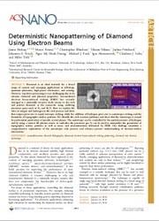 Deterministic Nanopatterning of Diamond Using Electron Beams