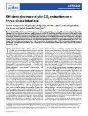 Efficient electrocatalytic CO2 reduction on a three-phase interface