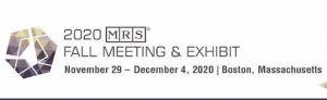 MRS Fall Meeting & Exhibit 2020 @ Hynes Convention Center | Boston | Massachusetts | United States