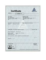 TÜV E50 EN Certificate
