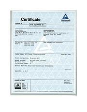 TÜV E50 WA SEMI S2 Certificate