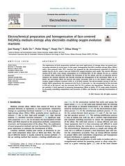 Electrochemical preparation and homogenization of face-centered FeCoNiCu medium entropy alloy electrodes enabling oxygen evolution reactions