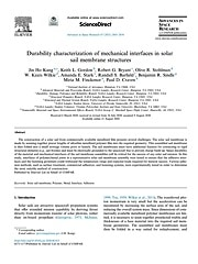 Durability characterization of mechanical interfaces in solar sail membrane structures