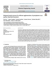 Enhanced metal recovery by efficient agglomeration of precipitates in an up-flow fixed-bed bioreactor