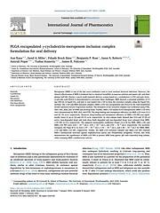 PLGA encapsulated γ-cyclodextrin-meropenem inclusion complex formulation for oral delivery